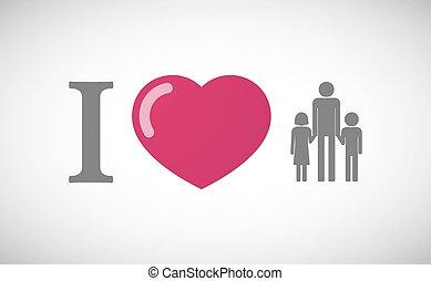 """""""I, love"""", jeroglífico, con, Un, macho,..."""