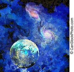 Exo-Solar Planet Painting