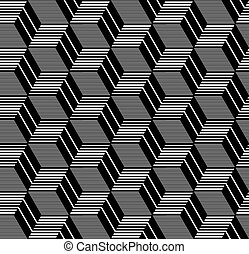 Seamless geometric op art pattern - Seamless op art pattern...