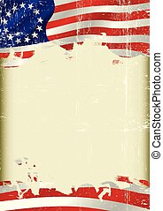 Betsy Ross Flag grunge background - Betsy Ross Flag. An old...