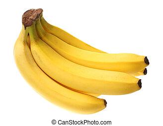 Banana bunch - Banana fruit bunch isolated on white...