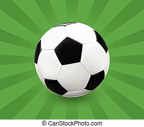 Soccer ball on green background - Soccer ball football on...