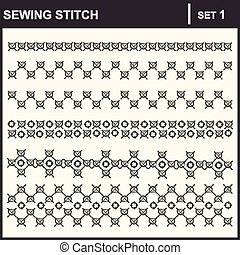 0116_1 sewing stitch - Collection of vector illustration...