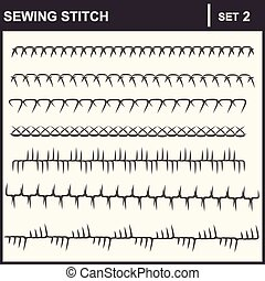 0116_2 sewing stitch - Collection of vector illustration...