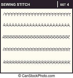 0116_4 sewing stitch - Collection of vector illustration...