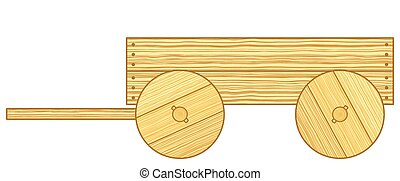 Cart - Illustration of the rustic wooden cart