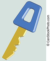Key - Illustration of the key icon