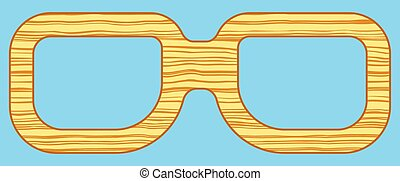Spectacles - Illustration of the abstract wooden spectacles