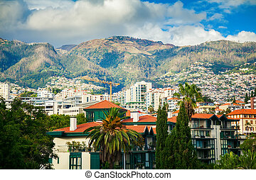 residential district of Funchal - the capital of Madeira...