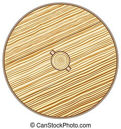 Wooden wheel - Illustration of the old rustic wooden wheel