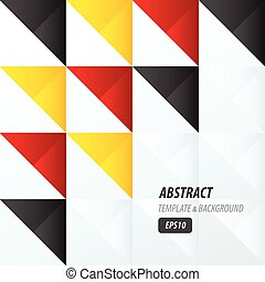 triangle pattern design  yellow, black, red