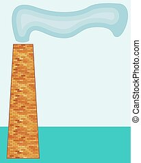 Chimney - Illustration of the smoking chimney