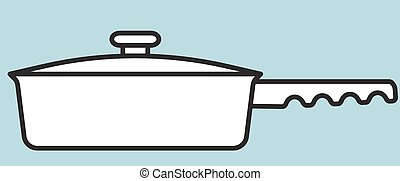 Pan - Illustration of the frying pan icon