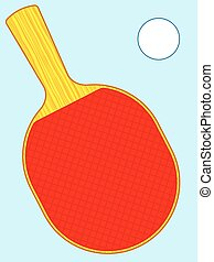 Racket - Illustration of the racket and ball for table...