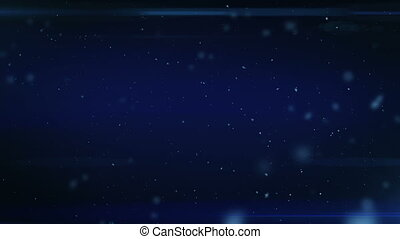 Dust in Space. Dark Blue Background with Flares. Looped. HD...