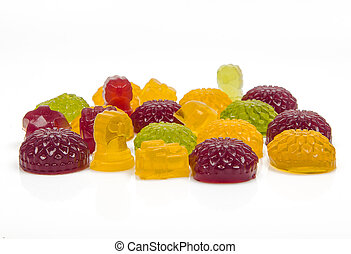 jelly candies on a white background