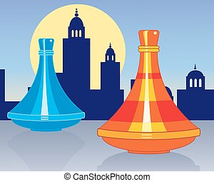 moroccan tagine - a vector illustration in eps 10 format of...