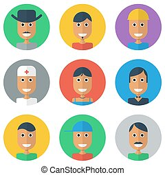 People Flat icons collection