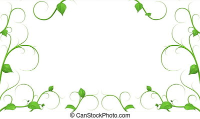 Green Leaves Growing Pattern HD 1080 Alpha Mask