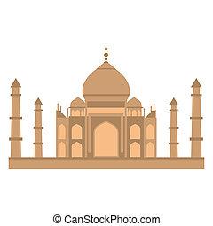 Taj-mahal temple flat - Taj-mahal temple in flat style...