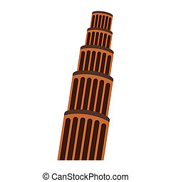 The Leaning Tower, Pisa - The Leaning Tower in Pisa. Flat...