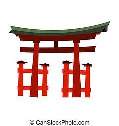 Japan Gate - Torii gate in flat style