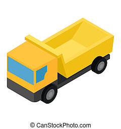 Truck isometric 3d icon isolated on white background