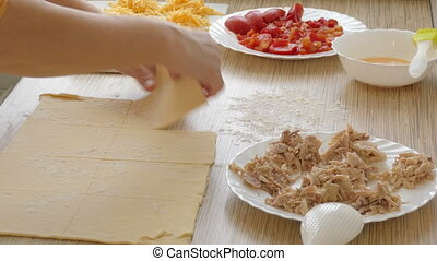 Preparation for cooking of pies