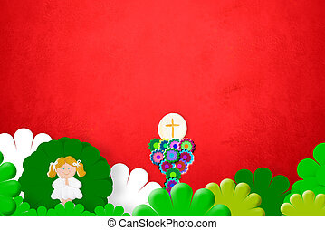 First Holy Communion blonde girl