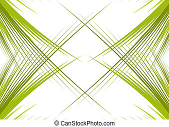 Green branches isolated on white background with space oy...