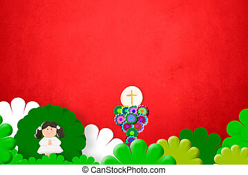 First Holy Communion invitation girl