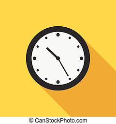 Flat style clock icon - Beautiful flat style clock icon with...