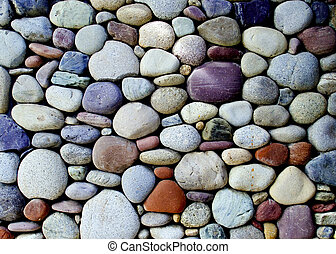 stone wall - pebble stone wall