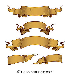 Old Banners (vector)