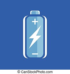 Battery flash power charge icon