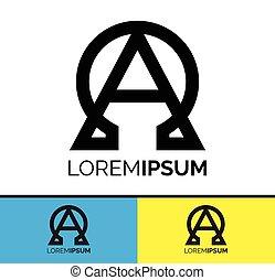 Alpha and Omega symbol icon design - Conceptual Symbolic...