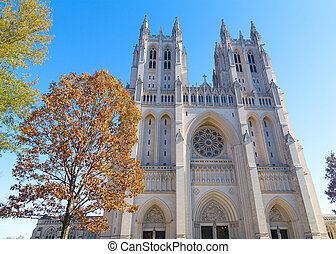 Washington National Cathedral - A front of the cathedral...
