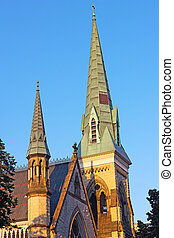 Ascension and Saint Agnes church - The Gothic Revival brick...