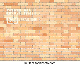 Red brown brick wall - Red brown grunge brick wall Vector...