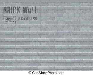 Gray brick wall - Gray grunge brick wall Vector seamless...