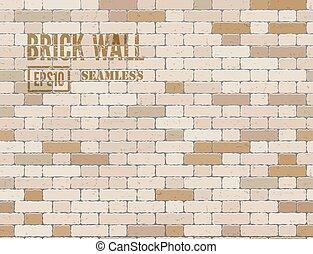Brown brick wall - Brown grunge brick wall Vector seamless...