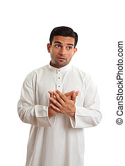 Worried middle eastern business man - An arab businessman...