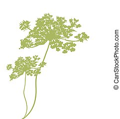 background with plant green silhouette