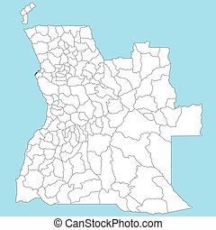 Map of Angola - A large and detailed map of Angola with all...