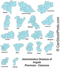 Provinces of Angola - Large and detailed maps of all...