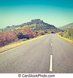 Golan Heights - Asphalt Road in the Golan Heights, Instagram...