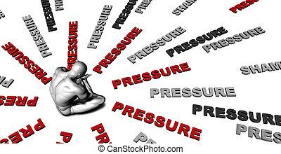 presión,