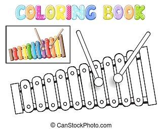 színezés, xilofon,
