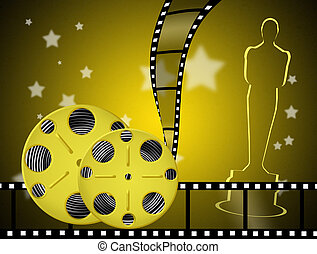 the night of the Oscars - illustration of the night of the...