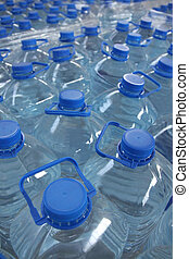 stack bottled water